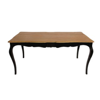 Black Lacquer Reclaimed Wood Dining Table