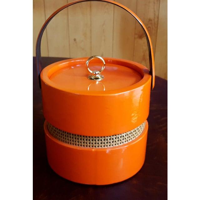 Vintage Orange Vinyl Ice Bucket - Image 2 of 4