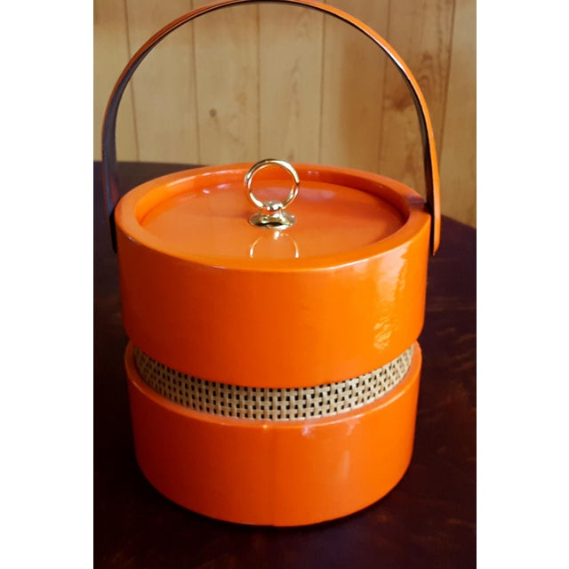 Image of Vintage Orange Vinyl Ice Bucket
