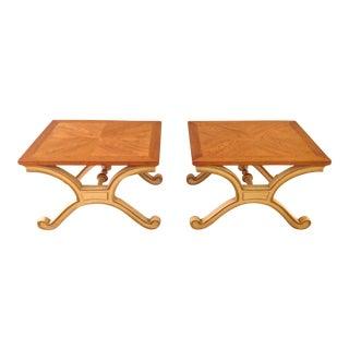 Heritage Hollywood Regency Side Tables - Pair 2