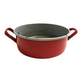 Midcentury Red Enamelware Harvest Bowl/Pan