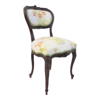 French Louis XV Carved Vanity Chair