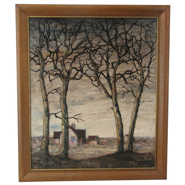 Signed Oil Painting by Casis, Forced Perspective - Image 1 of 5