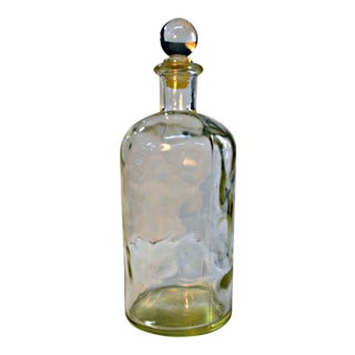 Hammered Glass Apothecary Lidded Bottle