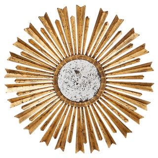 Mid-Century Modern Style Spanish Sunburst Mirror
