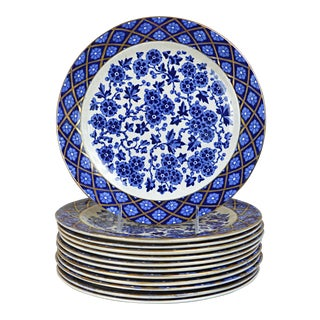Ridgway Hawthornden Transferware Dinner Plates - Set of 12