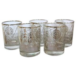 New England Nautical Glasses - Set of 5