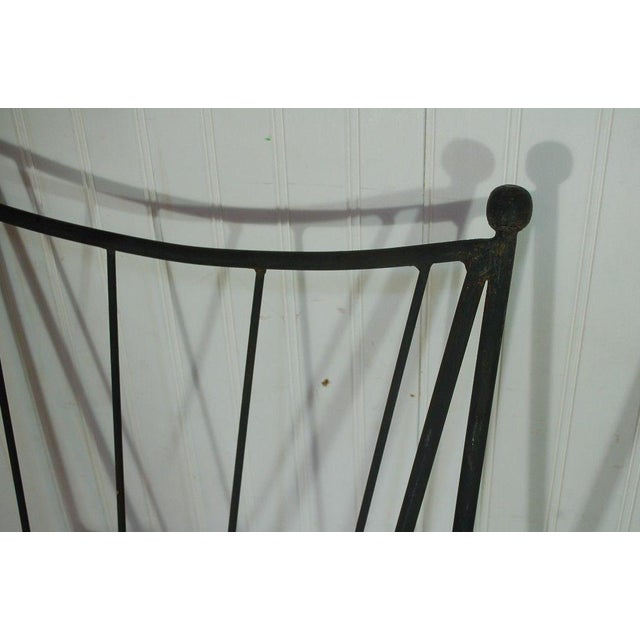 Mid Century Modern Wrought Iron Hairpin Bar Stools - A Pair - Image 9 of 11