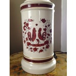Image of White & Red Ceramic Rooster Table Lamp