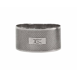 Sterling Silver Napkin Ring With E Monogram