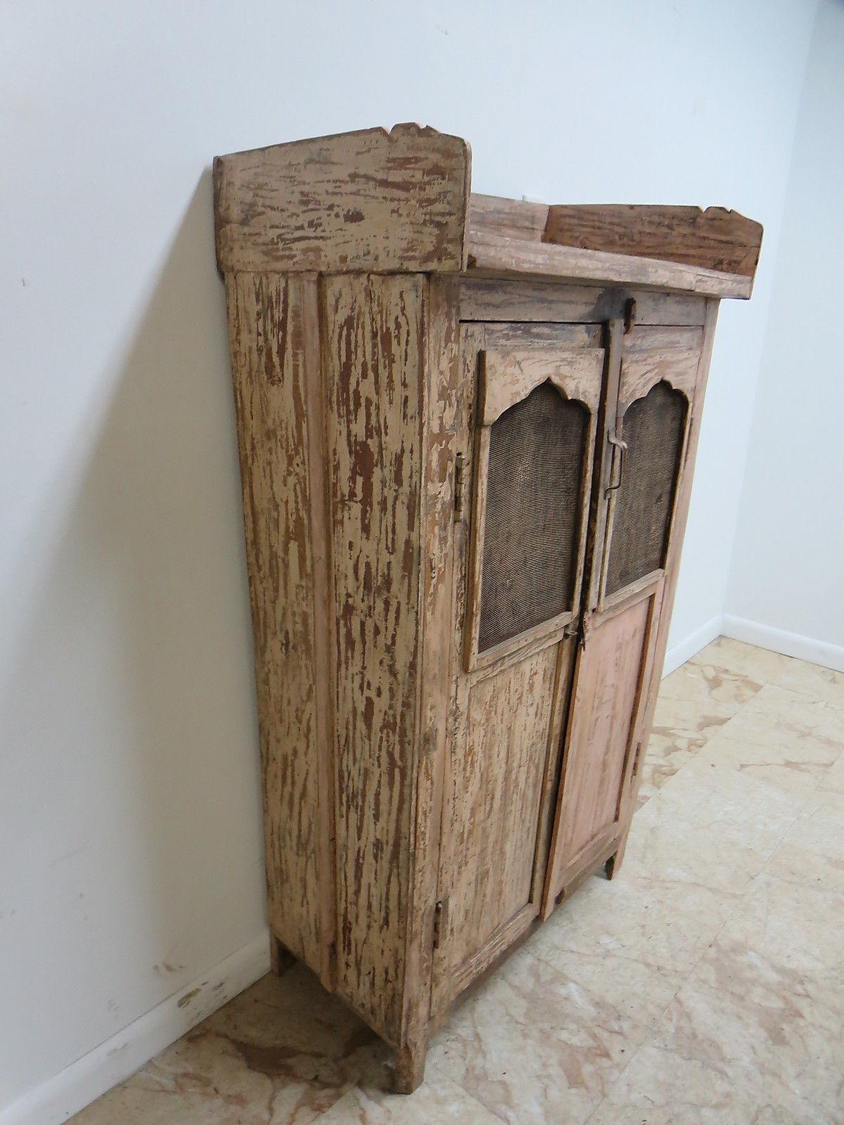 Antique Primitive China Cabinet Cupboard   Image 3 Of 7