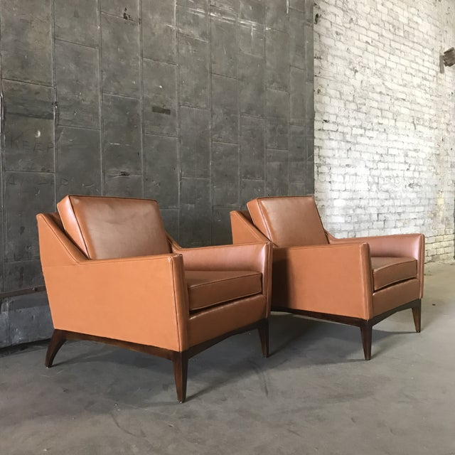 Mid-Century Modern Lounge Chairs - A Pair - Image 2 of 9