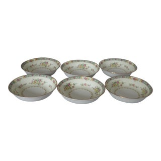 Cottage Style Floral Berry Bowls S/6