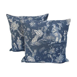 French Chinoiserie Pillows - Pair