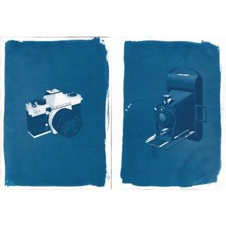 Cyanotype Prints, 3D Analog Cameras - A Pair