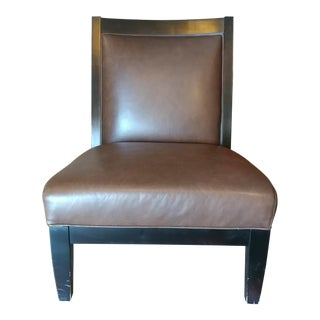 Room and Board Brown Leatherette Chair