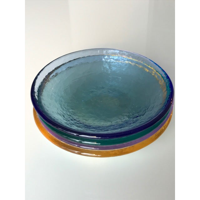 Multi-Colored Textured Glass Dishes - Set of 4 - Image 3 of 4