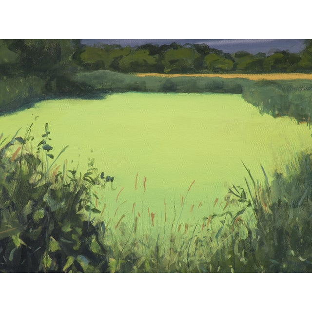Original Landscape Painting, Algae Covered Pond - Image 5 of 5