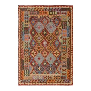 "Kilim Arya Renato Red & Blue Wool Rug - 5'0"" x 6'8"""