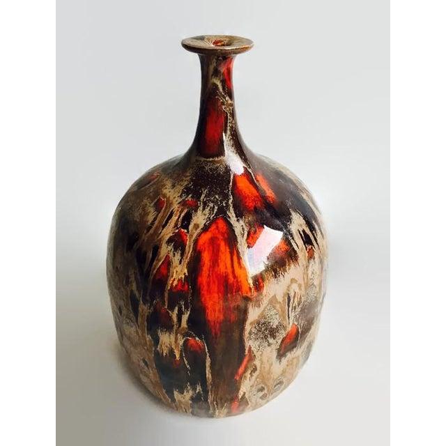 Image of Vintage Danish Style Studio Pottery Bud Vase 1975