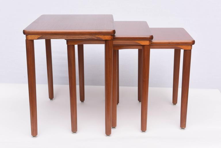 Danish Teak Nesting Tables By EW Bach, 1960s, Denmark   Image 2 Of 9