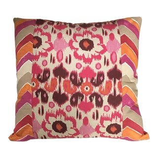 Kim Salmela Pink and Orange Patchwork Pillow