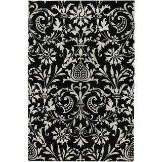 Surya Black & White Contemporary Rug - 9′ × 13′