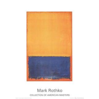 Mark Rothko Yellow, Blue, Orange (1955) Poster