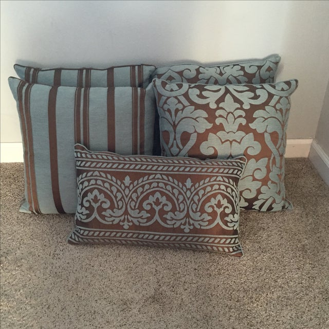 Throw Pillows Rust : Restoration Hardware Throw Pillows - Set of 5 Chairish
