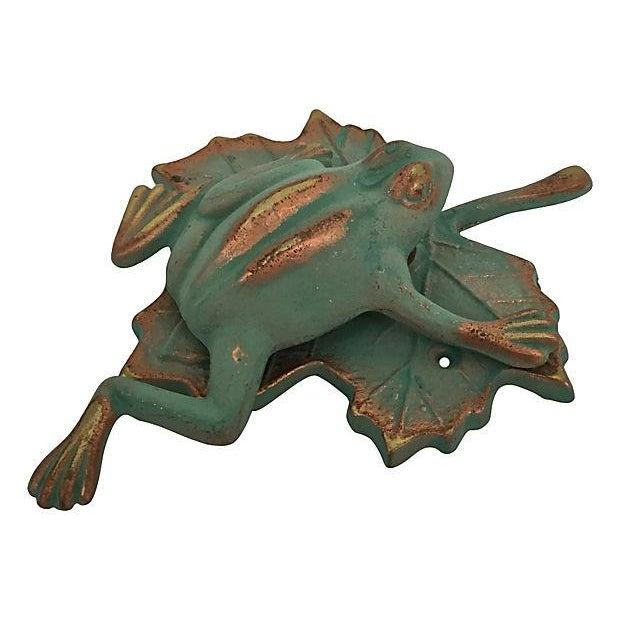 Image of Green & Gold Frog Door Knocker