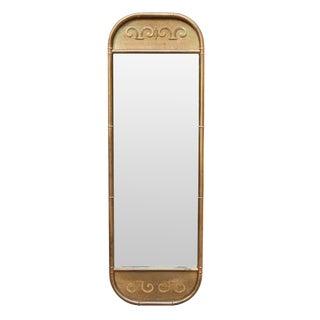 Mastercraft Mid-Century Faux Bamboo Brass Mirror