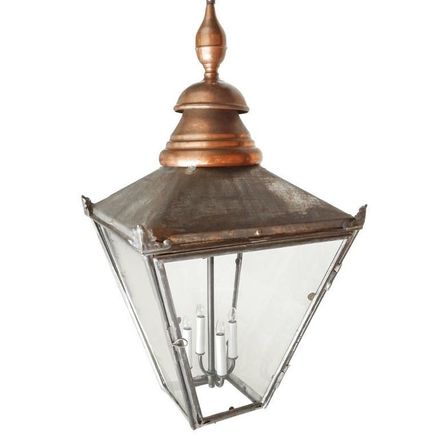 Large Copper and Zinc French Lantern - Image 3 of 8