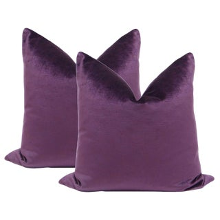 "22"" Voilet Luxe Velvet Pillows - a Pair"