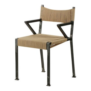 21st Century American Industrial Style Tumbled Steel Arm Chair