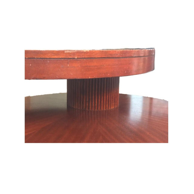 Round Wooden Rotating Coffee Table - Image 6 of 10