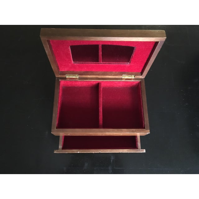 Japanese Mid-Century Chocolate Bar Jewelry Box - Image 3 of 4