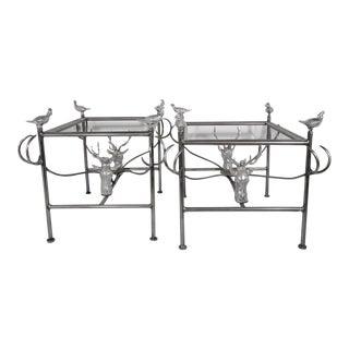 Arthur Court Metal Tables - A Pair