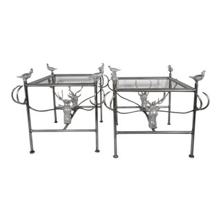 Arthur Court Metal Tables - A Pair