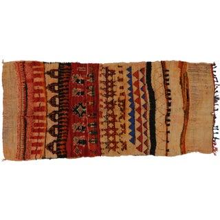 Vintage Berber Moroccan Tribal Rug - 4′7″ × 8′6″