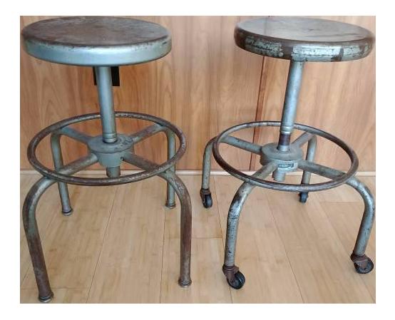 1940s metal bar stools ajustrite schaar a pair