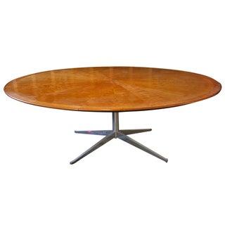 Large Starburst Pattern Wood Top Dining Table
