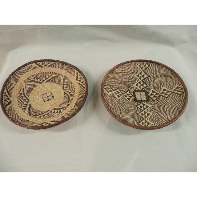 Vintage Tribal African Baskets - Pair - Image 2 of 3