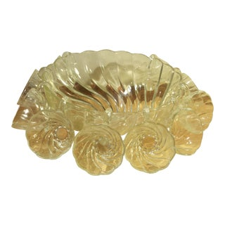 Hazel Atlas Seashell Swirl Punch Set