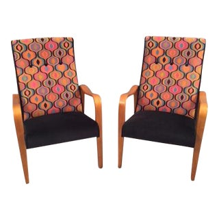 Mid-Century Thonet Bentwood Armchairs - a Pair