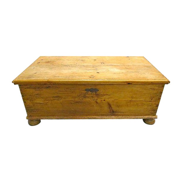 Antique Pine Chest Trunk Coffee Table Chairish
