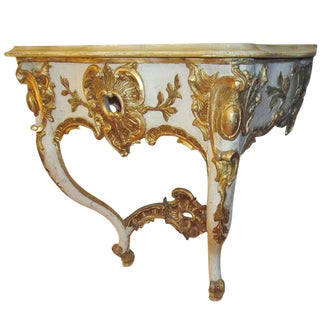 19th Century Cream and Gilt Italian Console