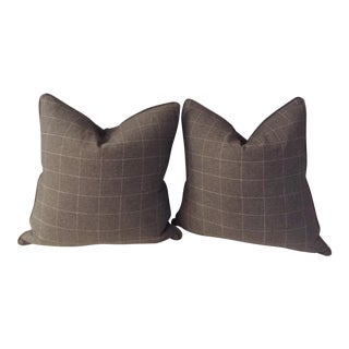 Classic Ralph Lauren Wool Pillows - A Pair