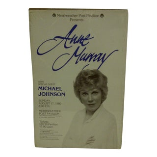 "Vintage 1980 ""Ann Murray"" Concert Poster"