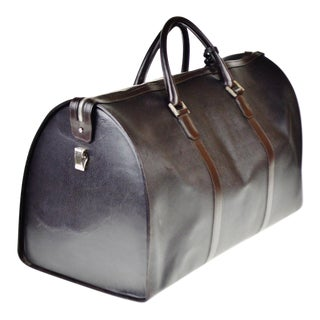 Authentic Vintage Dunhill Leather Large Zip Tote Holdall Bag - Made in Italy