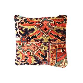 1900 Antique Heriz Fragment Pillow